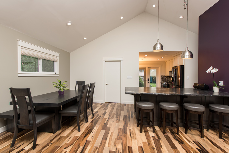 open dining area with granite countertops