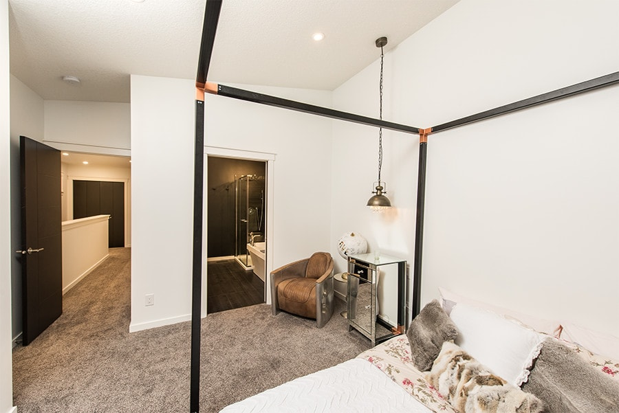 Ensuite and Master bedroom with large windows