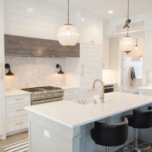 luxury white kitchen accents